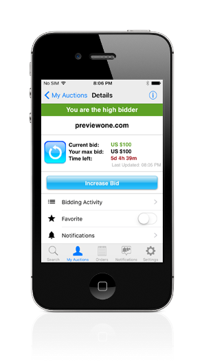 Snapnames Domain Auctions iPhone App